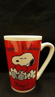 Snoopy Peanuts Happy Valentine's Day Red Heart Coffee Cup Mug Gift Charlie Brown