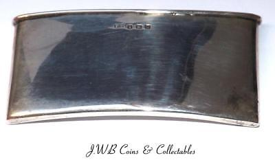 Antique Silver Curved Card Case Hallmarked Birmingham 1919
