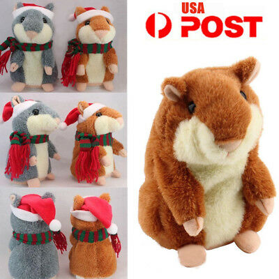 Christmas Pet Talking Hamster Plush Animal Toy Electronic Hamster Mouse 2017Gift