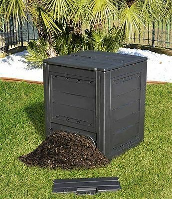 260L Garden Bin Composter Eco Friendly Recycling Compost Garden Waste Black Box
