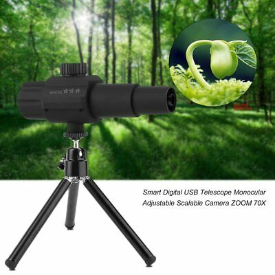 Smart Digital USB Telescope Monocular Adjustable Scalable Camera ZOOM 70X ZZ