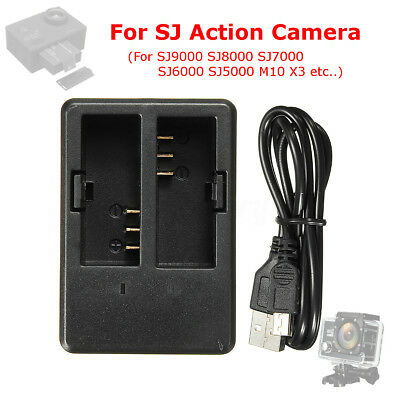 Dual Battery Charger Dock For SJ7000 SJ5000 SJ9000 M10 X3 Sports Action Camera