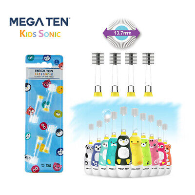 Mega Ten Kids Sonic Toothbrush Refill 4P (DUCK)