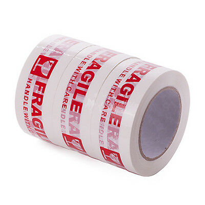 3 Rolls Fragile Tape Handle With Care,Width 5CM,Length 100M