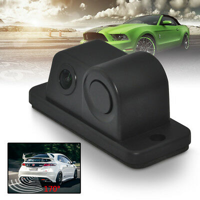 2 in 1 170° LCD Car Reverse Radar Rear View Backup Camera With Parking Sensor