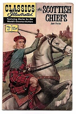 Classics Illustrated #67 The Scottish Chiefs 1965 HRN 167 5.0 VG/FN to 5.5 FN-