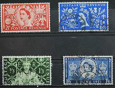 Great Britain Stamps SC#313-315 Used  EII Coronation Complete to 1sh6p (4 vals)