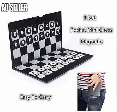 Mini Magnetic Wallet Folding Chess Set Wallet Pocket Board Games for Travel 2017