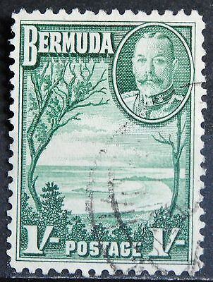 Bermuda Stamps SC#113 Used VF GV One Shilling  Green
