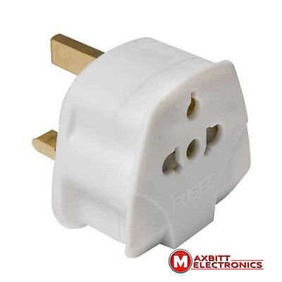 Universal To Uk 3 Pin Plug Visitor Travel Adapter For Usa Aus Eu Au Us To Uk 768