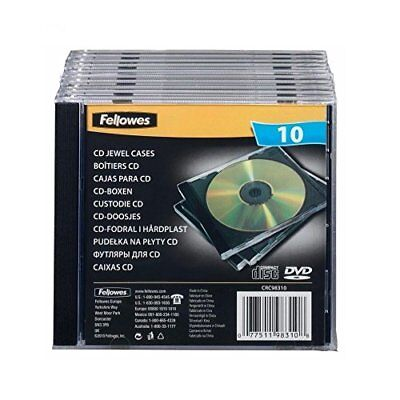 Fellowes Cd Jewel Case - Black  Pack of 10