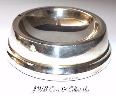 Vintage Silver Ashtray / Pin Dish Hallmarked Birmingham