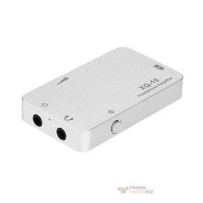 3.5mm Jack xDuoo XQ-10 Sound Headphone Amplifier Connected w/ PC Phone MP3 MP4