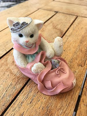 """Enesco Calico Kittens """" We're Partners In The Dance Of Life """" 2001 Cat Pink Shoe"""