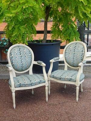 A Lovely Pair Of French Vintage Parlour Or Salon Armchairs