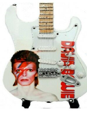 David Bowie Tribute Miniature Guitar (UK SELLER) NEW