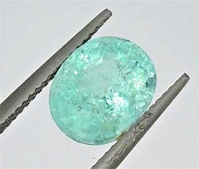 Rare Loose Gia Certified 3.44Ct Oval Brilliant Cut Natural Paraiba Tourmaline""