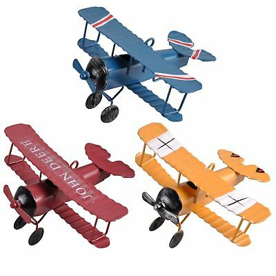 mini Retro Plane Airplane Aircraft Model Home Decoration Ornament Toy room Decor