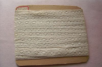 Antique Insertion Torchon Lace Trim For French German Bisque Doll 1.2 Yards