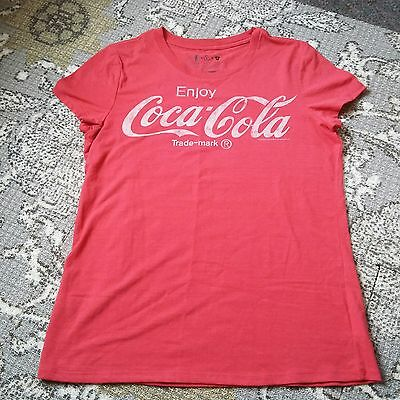 Coca Cola Licensed 5 Inside Red Recycled T Shirt Womens Sz Large