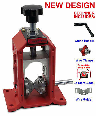 NEW Copper Wire Stripping Machine Manual Crank Operated Copper Stripper