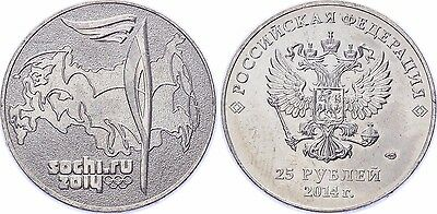 Russia 25 Roubles, 2011, 2014 Winter Olympics - Sochi