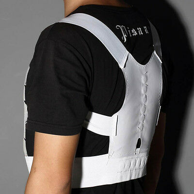 Magnetic Therapy Posture Corrector Body Back Pain Belt Brace Shoulder WS