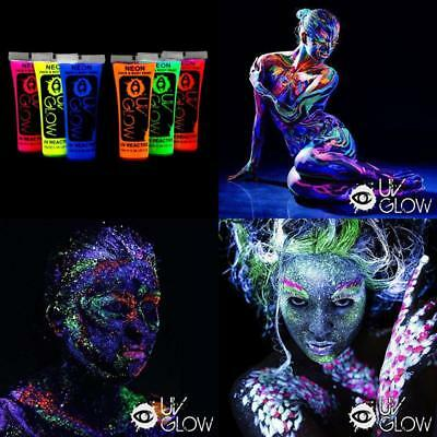 Neon Glow In The Dark Face And Body Paint Party UV Premium Quality Painting Set
