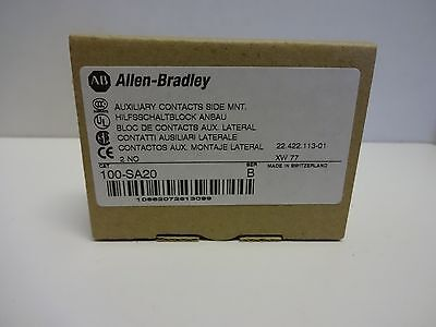 100-SA20 Allen-Bradley Auxiliary Contact New in Box Series B