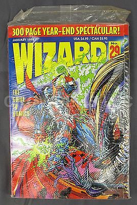 Wizard Magazine #29 January 1994 Spawn Cover Year End Spectacular Sealed in Bag