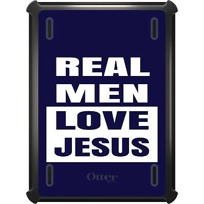 OtterBox Defender for iPad Pro / Air / Mini -  Navy Real Men Love Jesus