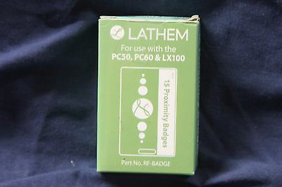 Lathem Time Proximity ID Badges For PC50, PC60 & LX100 - RF-BADGE Pack of 15