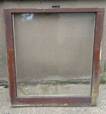 VINTAGE WOOD WINDOW FRAME LOWER SASH SINGLE PANE GLASS  28.25 W in 30.125 H in