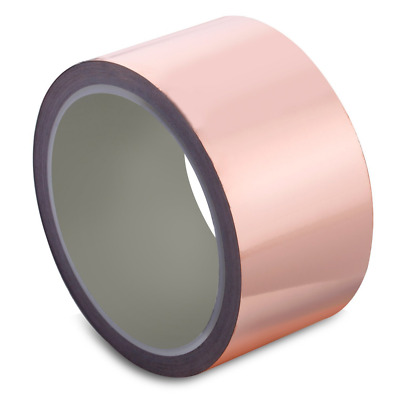 Copper Foil Tape with Conductive Adhesive 2inch X 21.8yards - for Stained Glass,