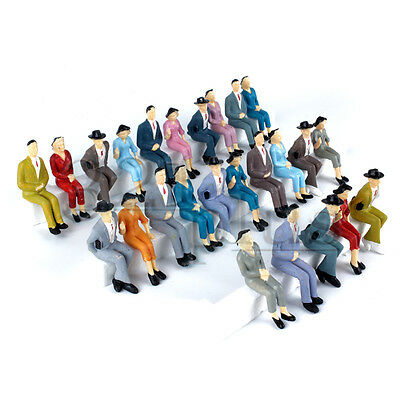 25 pcs. Sitting G Scale People Figures Man Female Mixed Set 1:25 1:24 Scale