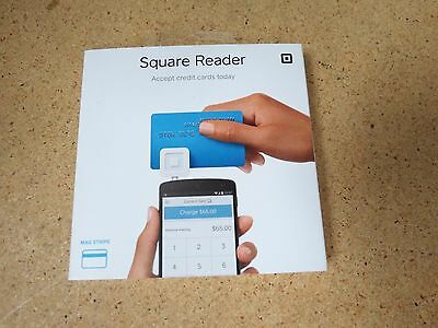 Brand New Square Credit Card Reader for Apple and Android - White 2243C