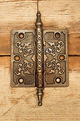 "Vintage Ornate Victorian Cast Iron 4"" X 4"" Door Hinge"
