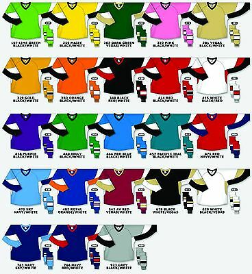 TEAM SET/LOT of 12 Hockey Jerseys Athletic Knit League Series
