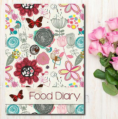 Food Diet Diary SW Compatible Slimming Weight Loss Tracker Diet Planner RED,BFLY
