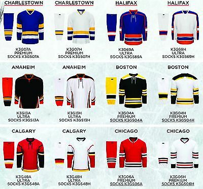 TEAM SET/LOT of 12 Hockey Jerseys Kobe K3G NHL Style