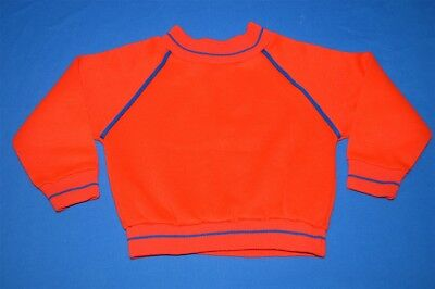 vintage 70s PENNEYS RED BLUE PIPING CREWNECK KIDS BABY SWEATSHIRT 12-18 MONTH
