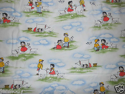 HEIDI & Peter Kinder Bettwäsche Biber 80er vintage Stoff bedding fabric 80s warm