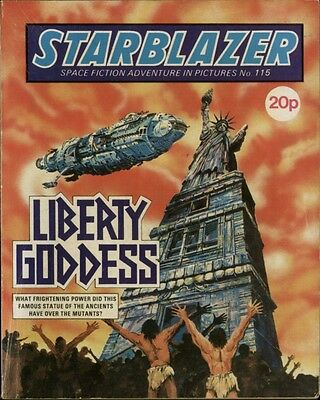 Liberty Goddess,starblazer Space Fiction Adventure In Pictures,no.115,1984