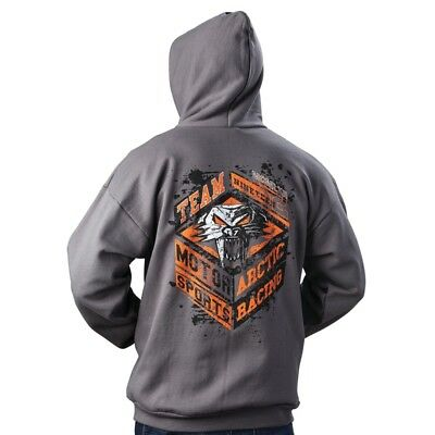 Arctic Cat Men's Team Motorsports Racing Cathead Full Zip Hoodie Gray - 5269-61_