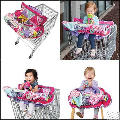 Shopping Cart Cover&High Chair Cover Pink Comfortable Safe Harness Extra padding