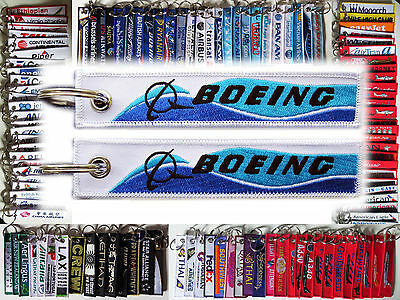 Keyring BOEING CO. DREAMLINER STYLE baggage tag label keychain for Pilot