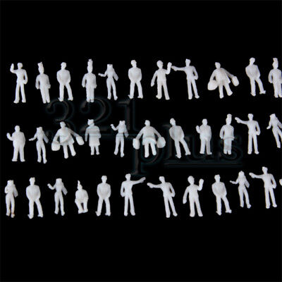 100 pcs. Z Scale People 1:220 Scale Plastic Figures Plastic Z Gauge Miniatures