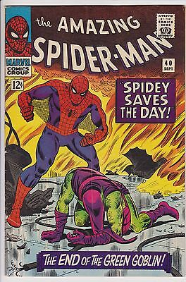 Amazing Spider-Man #40 F- Green Goblin Origin John Romita Cover D