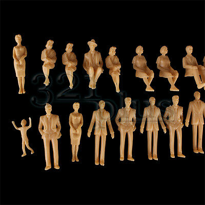 100 pcs 1:32 Scale Figures People Architectural Model Supplies unpainted Mixed
