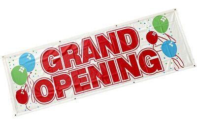 2x6 ft GRAND OPENING Banner Sign Vinyl Alternative Store Sale Retail Fabric wb